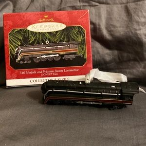 Hallmark Ornament 746 Norfolk Western Locomotive